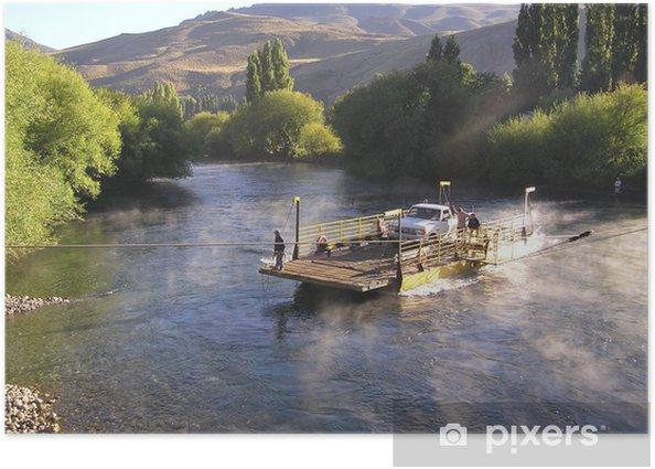 """Plakat Limay rzeki tratwa przekraczania """"sznur"""" - Ameryka"""