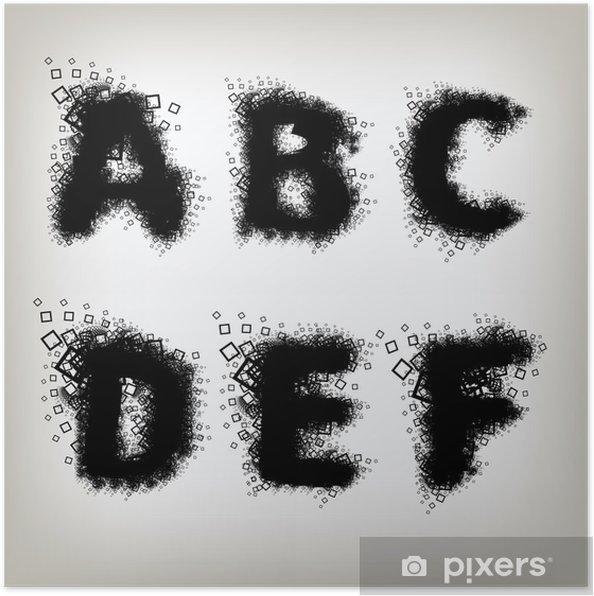 Plakat Litery alfabetu ustawić - Tematy