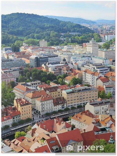 Plakát Ljubljana Staré Město - Evropa