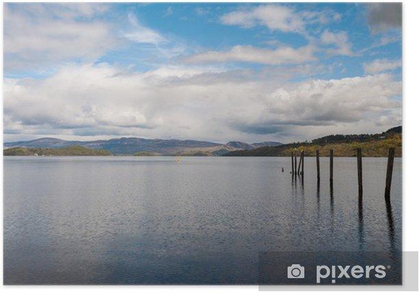 Plakát Loch Lomond ve Skotsku - Voda