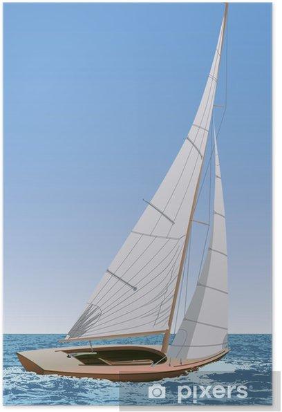 Plakat Łódka - Transport wodny