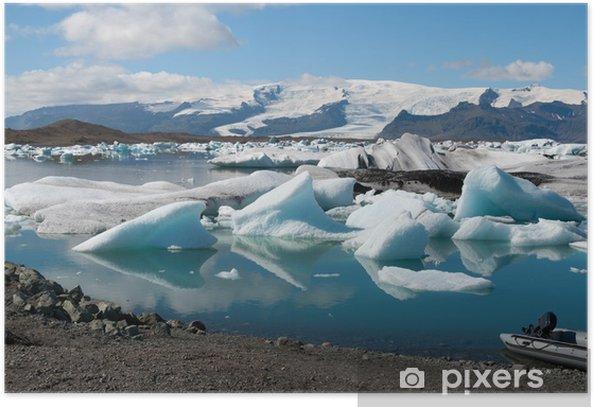 Plakat Lodowa sul jezioro Jökulsárlón w Islandii - Woda