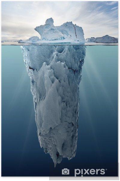 Plakat Lodowa z widokiem podwodnego - Krajobrazy