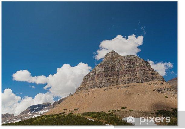 Plakat Logan Pass górski krajobraz w Glacier National Park - Ameryka