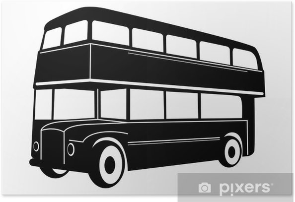 Plakat London double Decker czerwony autobus - Transport drogowy