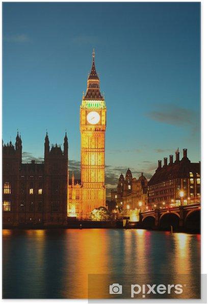Plakat London o zmierzchu - Tematy