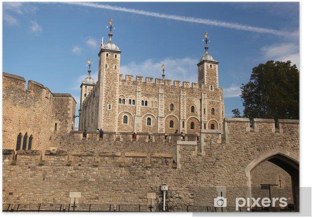 Plakat London z zamku Tower Hill w Anglii - Miasta europejskie