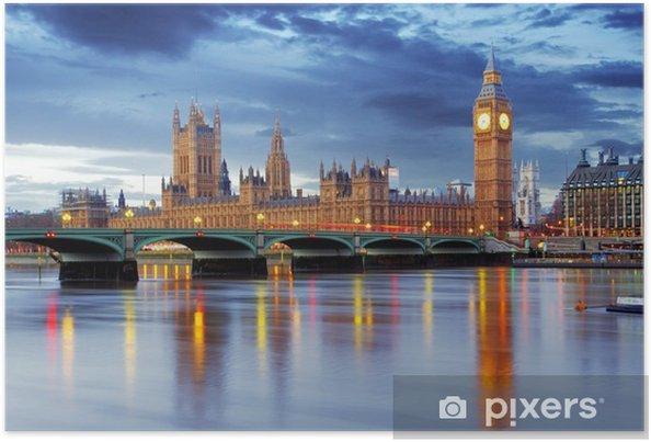 Plakat Londyn - Big Ben i Houses of Parliament, uk -