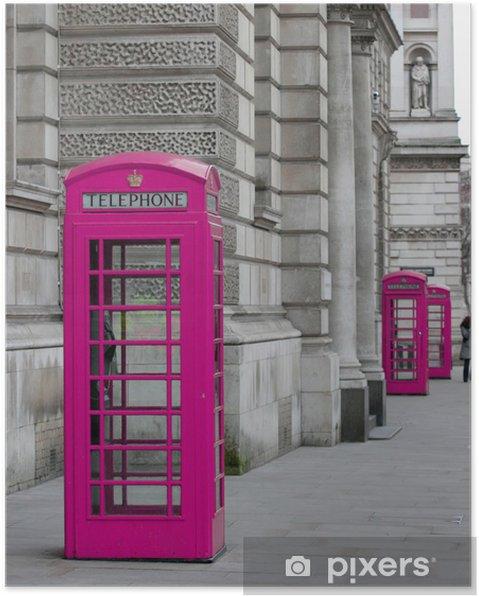 Plakat Londyn budki telefoniczne - Tematy
