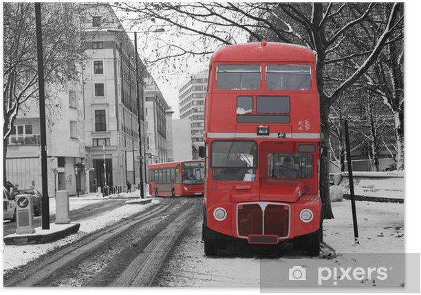 Plakat Londyn mistrz linia autobusowa - iStaging