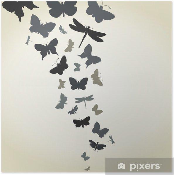 Plakat Lot motyli - Inne Inne