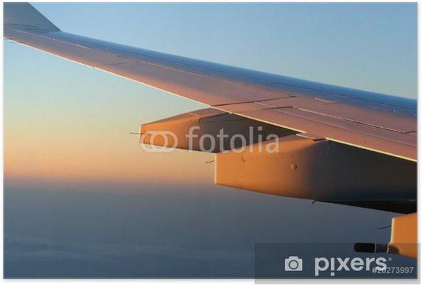 Plakat Lot skrzydło - Transport powietrzny