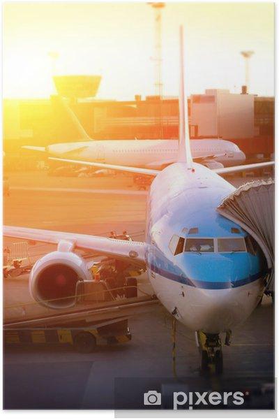 Plakat Lotnisko - Transport powietrzny