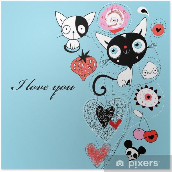 Plakát Love kittens - Mezinárodní svátky