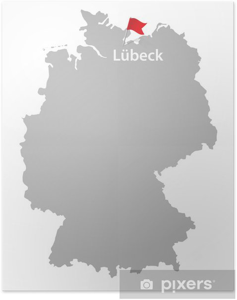 Plakat Lubeka Niemcy miasto - Europa