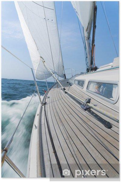 Plakat Luksusowy jacht żaglowy - Transport wodny