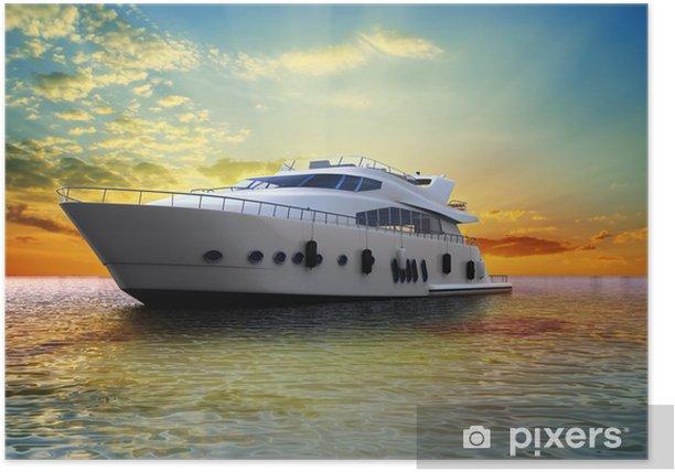 Plakát Luxusní jachty - Lodě