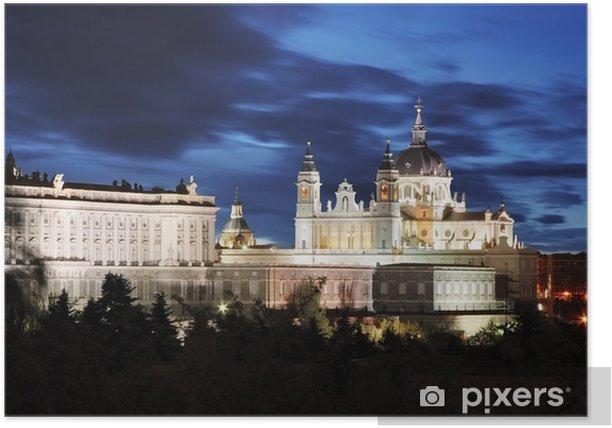 Plakat Madryt, Katedra Almudena i Pałac Królewski - Hiszpania - Tematy
