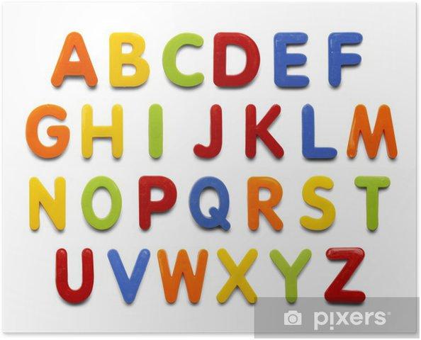 Plakat Magnes Alfabet