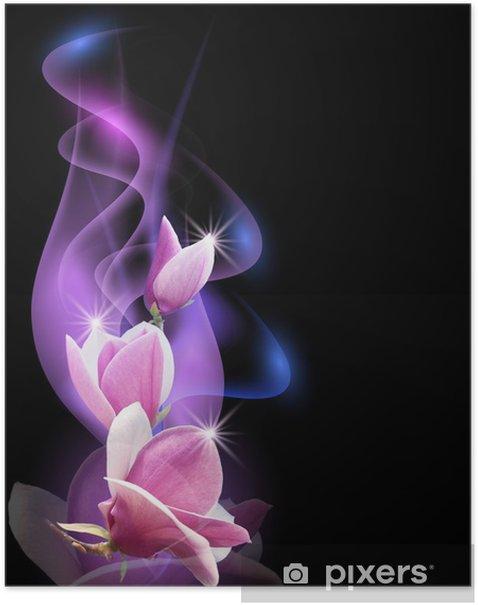 Plakat Magnolia i dym -