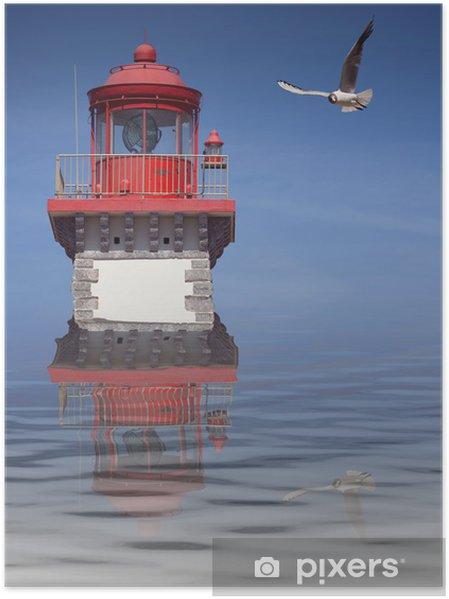 Plakát Maják mouette bateau signalizace Pobřeží repère mlha reflet mer - Náboženství