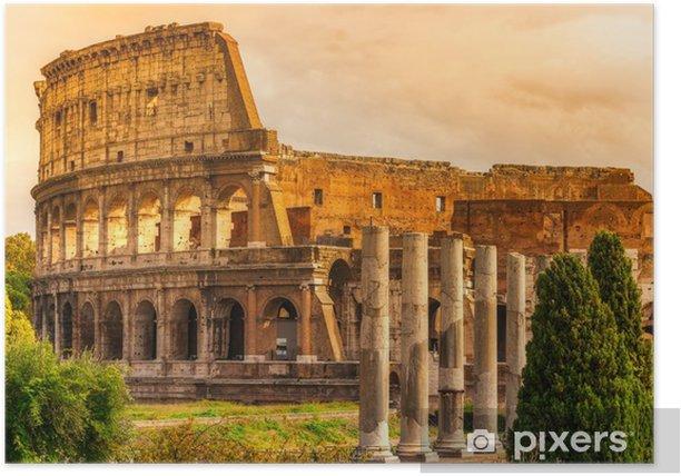 Plakat Majestatyczny Koloseum, Rzym, Włochy. - Tematy