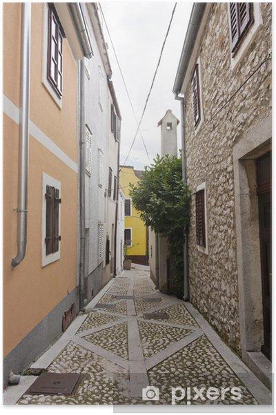 Plakat Mała uliczka w Chorwacji - Tematy