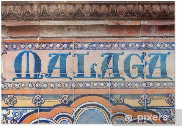 Plakát Malaga - Pozadí