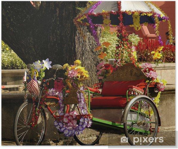 Plakát Malajsie, Malacca: rikša - Na cestě