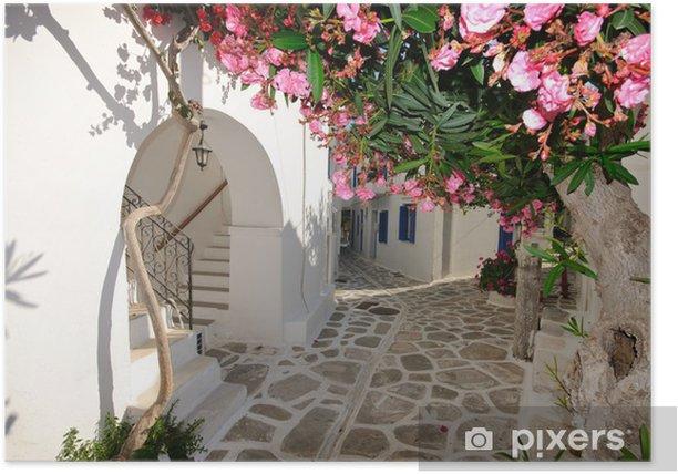 Plakat Małe Backstreet na Amorgos Island, Grecja - Tematy