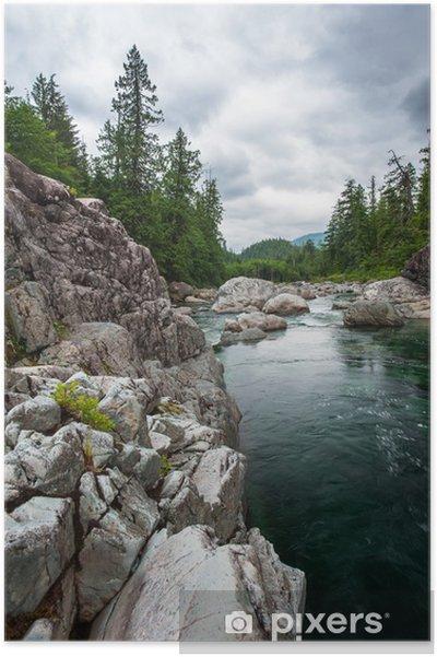 Plakát Malé řeky na Sutton Pass, Vancouver Island - Témata