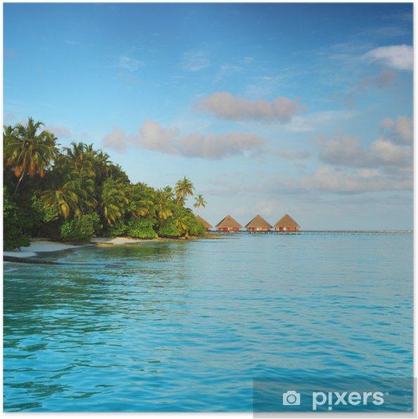 Plakát Maledivy krajina - Prázdniny