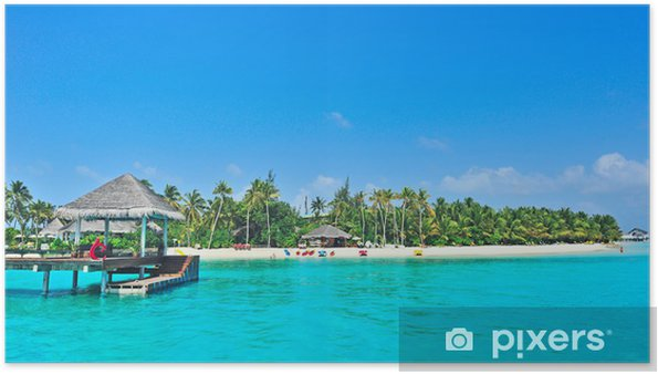 Plakát Maledivy ostrov - Prázdniny