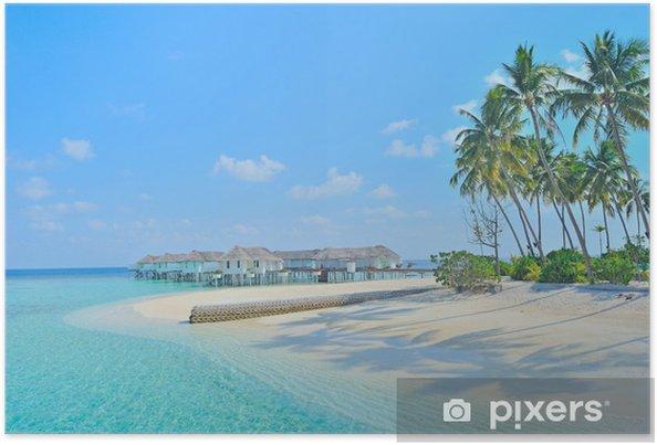 Plakat Malediwy sunset beach - Wakacje
