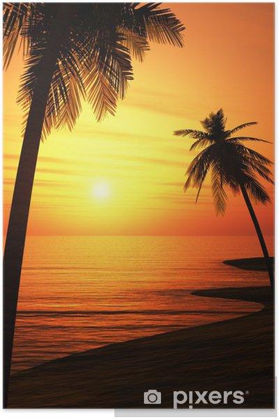 Plakat Mallorca Sunset Chillout Plaża 01 - Niebo