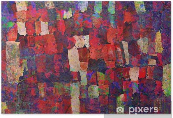 Plakat Malowanie abstrakcyjna sztuki - Hobby i rozrywka