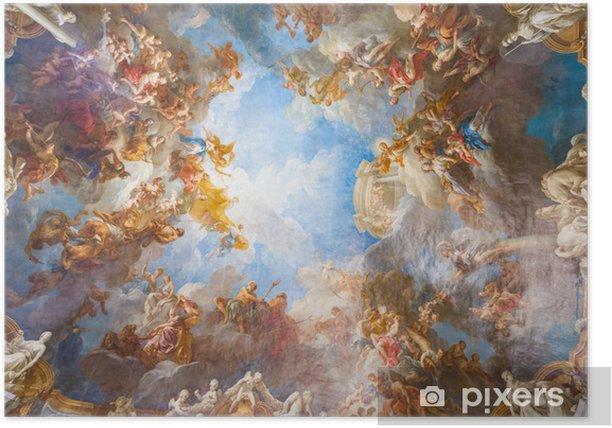 Plakat Malowanie sufitu Pałac wersalski koło Paryża, Francja - Zabytki