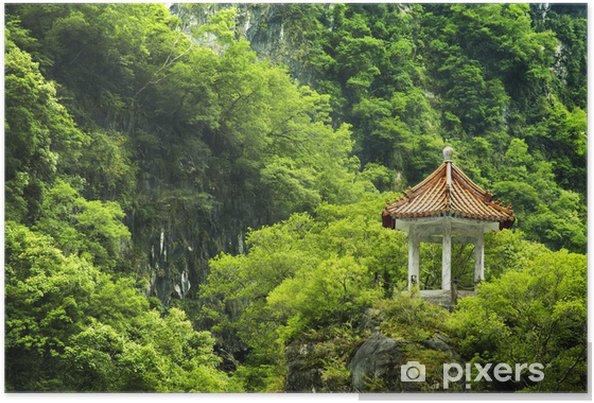 Plakat Malownicze miejsce na Tajwanie. - Azja