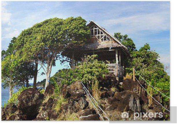 Plakat Malowniczy krajobraz morze. Apo Island, Filipiny - Wyspy