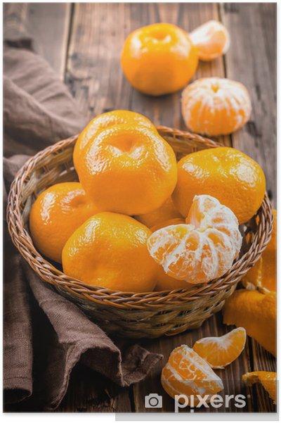 Plakat Mandarynki - Owoce