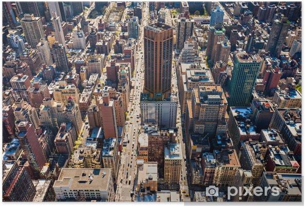 Plakat Manhattan, Nowy Jork. USA. - Miasta amerykańskie