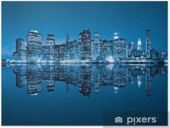 Plakat Manhattan, Nowy Jork. USA. -