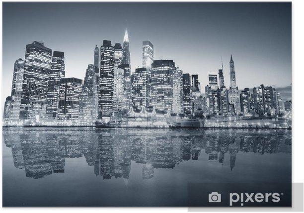 Plakat Manhattan Nowy Jork -
