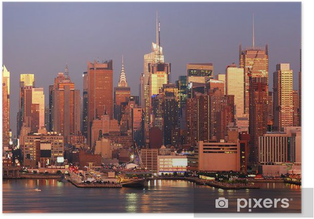 Plakat Manhattan słońca - Ameryka