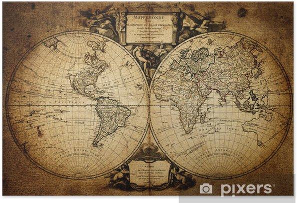 Plakat Mapa świata 1752 - Tematy