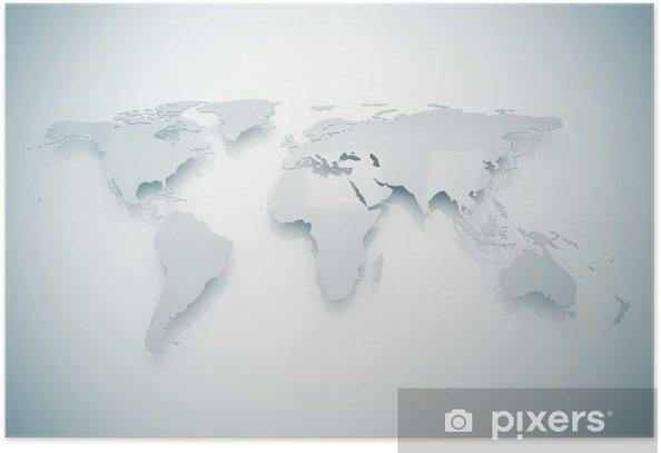 Plakat Mapa świata - Wakacje