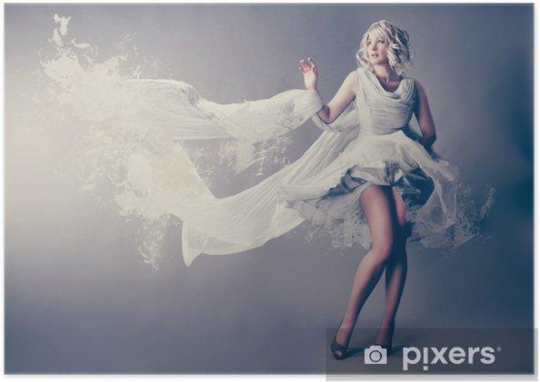 Plakat Marilyn Monroe w sukience powitalny - Uroda i pielęgnacja ciała