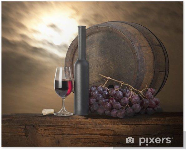 Plakat Martwa natura z czerwonego wina. - Tematy