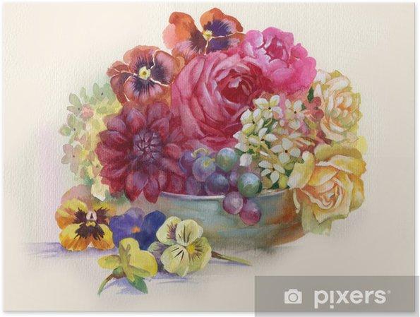 Plakat Martwa natura z różami - Sztuka i twórczość