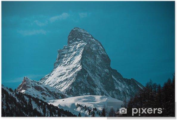 Plakát Matterhorn ve Švýcarsku - Evropa